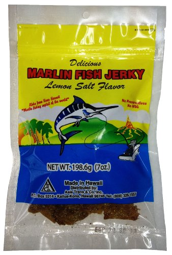 Hawaiian Marlin Fish Jerky Lemon Salt 7 Oz