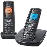 Gigaset A510 Duo Téléphone sans fil DECT/GAP 2 combinés Noir
