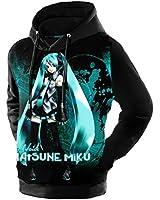 D-Sun Unisex Hatsune Miku Vocaloid Cotton Sweater Hoodie (M, Style 6)
