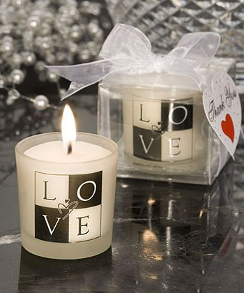 LOVE Design Candle Wedding Favors, 36