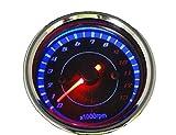 LED バックライト で 夜でも明るく 見やすい タコメーター (電気式 タコメーター 13000rpm LED)
