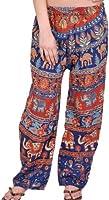 Unique  Genie Pants Silk Sari Pants Afgani Look Belly Dance Pants For Lady