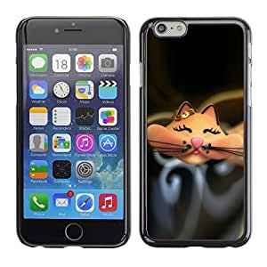Omega Covers - Snap on Hard Back Case Cover Shell FOR Apple Iphone 6 Plus / 6S Plus ( 5.5 ) - Cartoon Cute Happy Black
