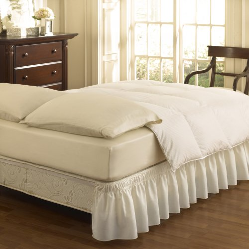 Sale!! Easy Fit Ruffled Solid Bed Skirt, Queen/King, White