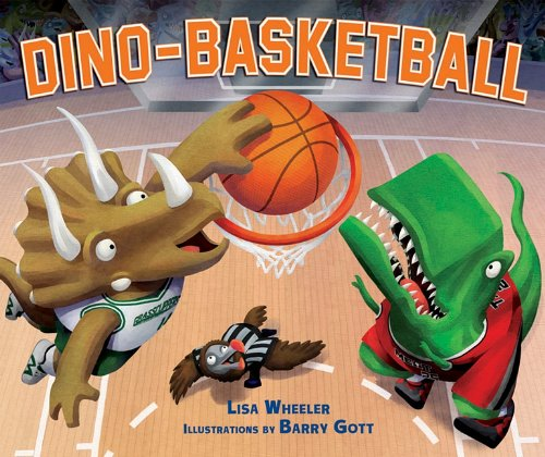 book cover of Dino-Basketball by Lisa Wheeler