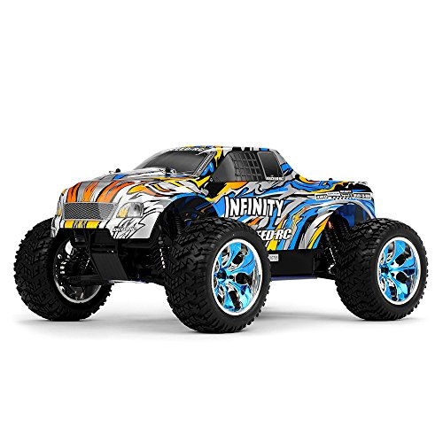 1/10 2.4Ghz Exceed RC Infinitve Nitro Gas Powered RTR Off Road Monster 4WD Truck Stripe Blue ***STARTER KIT REQUIRED AND SOLD SEPARATELY*** (Rc Gas Powered Trucks compare prices)