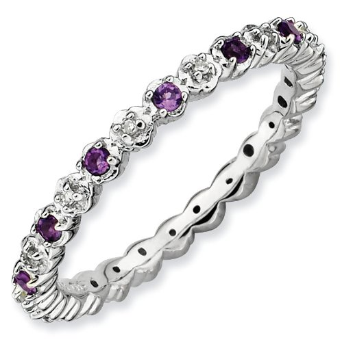 purchase sterling silver stackable expressions amethyst