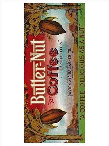 Butter Nut Coffee Label (9X12 Art Print)