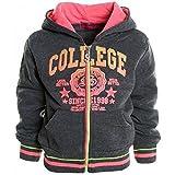 Winter Pullover Kapuzenpullover Mädchen Hoodie Hoody Kinder Sweatjacke 20204, Farbe:Grau;Größe:104
