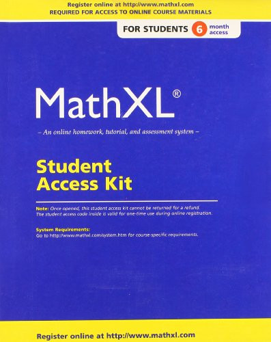 MathXL Standalone Access Card (6-month access) PDF