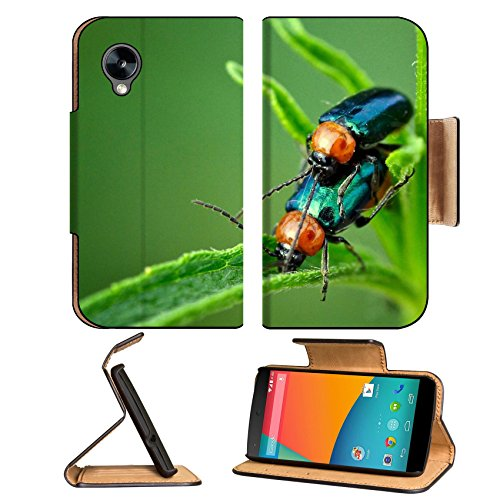 Green Steam Nature Bugs Macro Stem Google Nexus 5 Hammerhead Lg Flip Case Stand Magnetic Cover Open Ports Customized Made To Order Support Ready Premium Deluxe Pu Leather 5 11/16 Inch (145Mm) X 2 15/16 Inch (75Mm) X 9/16 Inch (14Mm) Msd Nexus Cover Profes front-600976