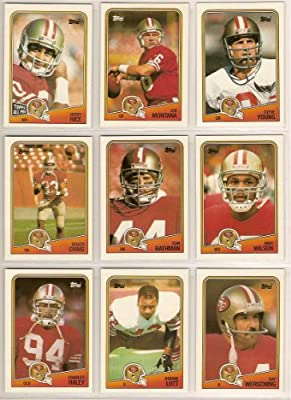 San Francisco 49ers 1988 Topps Football Team Set (Super Bowl Champs) (Joe Montana) (Steve Young) (Tom Rathman Rookie) (Jerry Rice) (Roger Craig) (Ronnie Lott) (Charles Haley) (Ray Wershing)