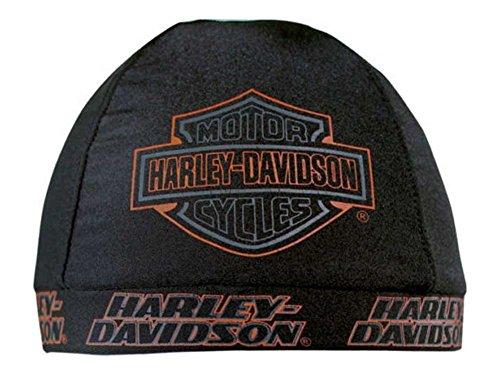 Harley-Davidson Mens Strong HD B&S Black Nylon Skull Cap, SK98630 (Harley Skull Cap compare prices)