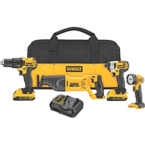 Dewalt-DCK420D2-20V-MAX-Cordless-Lithium-Ion-4-Tool-Combo-Kit