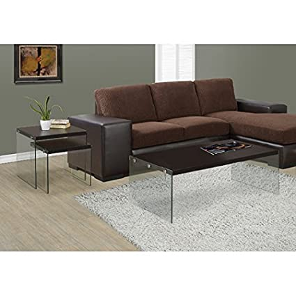 Solid and Stylish Coffee Table in Rich Cappuccino, For Living Room