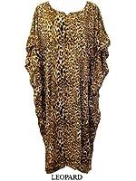 So So Soft Dashiki , Leopard, Tiger print Batik Kaftan Dress fits size 12-34 in 4 stunning colours
