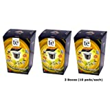 30 Nespresso Compatible Pods - Origen Tea, Black Citrus Tea, 3 Boxes - 10 Pods per box by Origen Coffee
