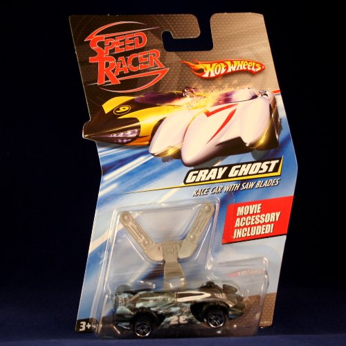 GRAY GHOST RACE CAR WITH SAW BLADES Hot Wheels SPEED RACER 1:64 Scale Movie Vehicle