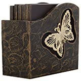 Ratios Wood Butterfly Coasters (Set of 6)