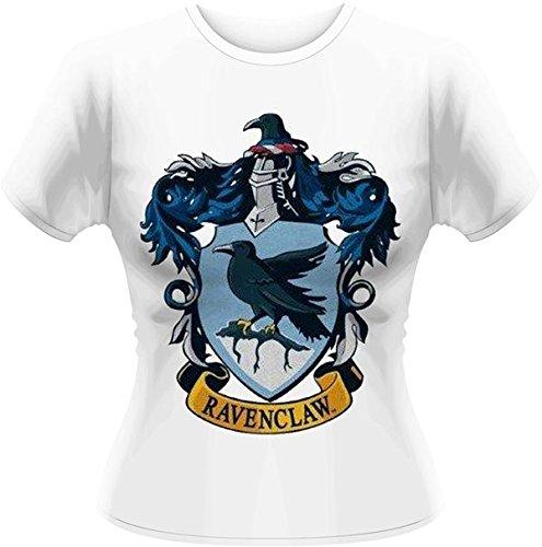 Playlogic International(World) - Harry Potter Ravenclaw GTS, T-shirt da donna, bianco (white), taglia 14 (Taglia produttore:X-Large)