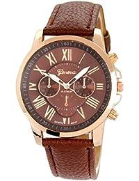 Geneva Platinum Collection Brown & Rose Gold Analog Watch - For Women