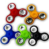 Fidget Spinner Bearing Ultra Speed Tri-Spinner Hand Spin Toy (Multicolor) ( Set Of 5 )