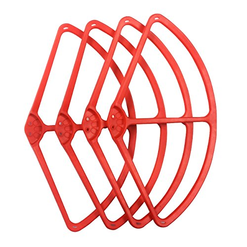 "Tera New 9"" Propeller Prop Protective Guard Protector Bumper Set for DJI Phantom 2, 3 Vision 4PCS Red - 1"