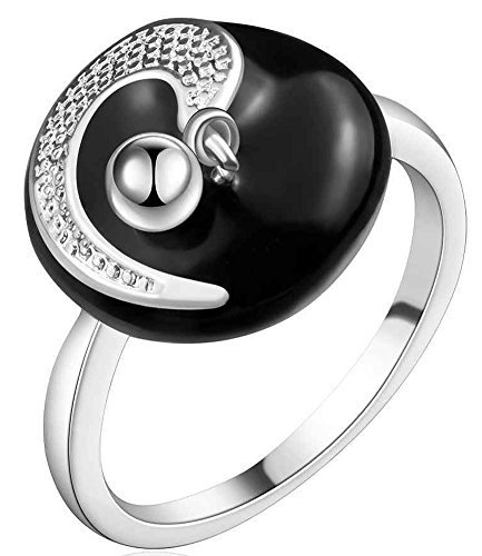 SaySure - Silver plated Ring Fine new arrivals anillos Moon (SIZE : 8)