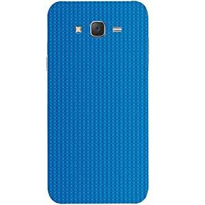 Casotec Lego Blue Circle Design Hard Back Case Cover for Samsung Galaxy J2