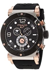 Mulco Unisex MW5-1623-025 Nuit Track Chronograph Stainless Steel Watch