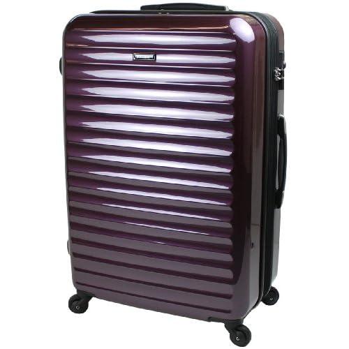 【SUCCESS サクセス】 TSAロック 搭載 超軽量 スーツケース 【3サイズ( 大型・中型・小型)】 【ヴィアーノ2013ダブルファスナーモデル】 鏡面ミラー加工 (大型 75cm, ディープパープル)
