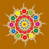 meSleep Beautiful Printed Rangoli For Festivals