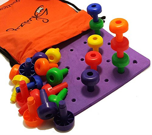 Fine Motor Toys : Peg board set fine motor toy for toddlers and