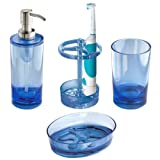InterDesign Eva Bath Accessories Set, Blue