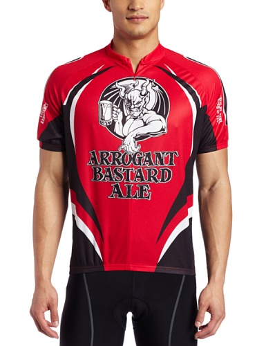 Canari Cyclewear Men's Arrogant Bastard Jersey (Red, Large)
