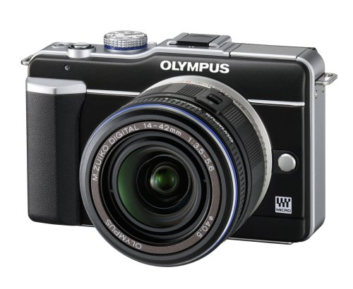 Olympus E-PL1 Compact System Camera - Black (14-42mm Black Lens Kit)