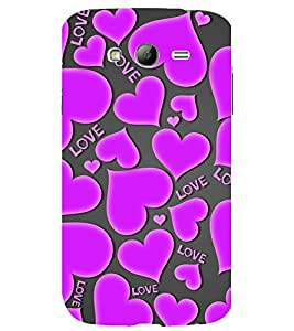 printtech Love Hearts Pattern Back Case Cover for Samsung Galaxy Grand Neo / Samsung Galaxy Grand Neo i9060