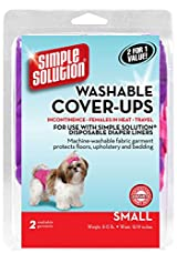 Simple Solution Washable Cover-Ups SMALL Pink/Purple 2-Pack