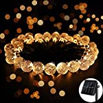 Globe String Lights Solar Powered Outdoor - Ankway 20ft 30 LED Outdoor Solar String Christmas Lights for Gardens, Home, Windows, Fence and Pool Halloween Warm White
