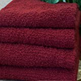 Salon Simplicity Collection: Set of 12 (dozen) Spa / Salon Towels; 100% Eco-Friendly Cotton Terry, Color: Ruby Red