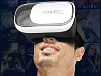 """VIIVRIA® 2nd 3D VR Virtual Reality Headset 3D Glasses Adjust Cardboard VR BOX For 4.7 to 6.1"""" Smartphones iPhone 6/6 plus Samsung Galaxy IOS Android Cellphones (3D VR Glasses 2nd) by VIIVRIA"""