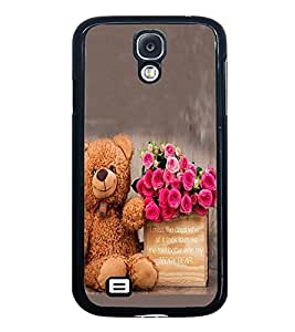 Fuson Premium 2D Back Case Cover Cute Teddy With Pink Background Degined For Samsung Galaxy S4::Samsung Galaxy S4 i9500