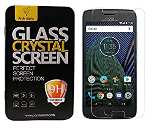 Parallel Universe 9H hardness and 2.5 D curved edge Tough Tempered Glass screen protector for Moto G5 Plus