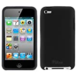 GTMax Black Silicone Skin Rubber Soft Cover Case For Apple iPod touch 8GB 32GB 64GB (4th Generation) 4 4G NEWEST MODEL