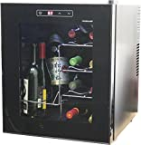 HOMEIMAGE Thermo Electric Wine Cooler 16 Bottles with Vertical Rack allows bottles to Sit Vertically - HI-16C