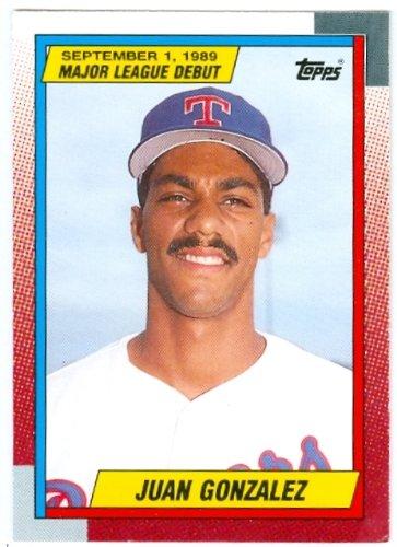 1 Juan Gonzalez Baseball Card 1989 Topps Debut 43 Texas