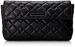 Marc by Marc Jacobs Sophisticato Crosby Quilt Leather Jemma Small Good Clutch, Black, One Size