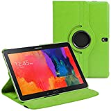 Stuff4 Case with 360 Degree Rotating Swivel Action and Screen Protector/Stylus Touch Pen for 10.1 inch Samsung Galaxy Tab Pro T520/T525 - Green