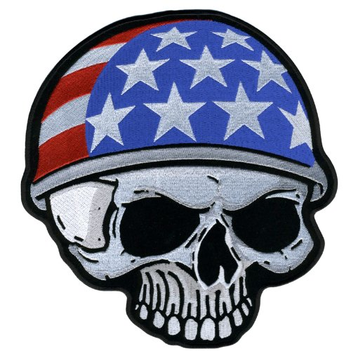 Hot Leathers Flag Helmet Skull Patch (9