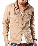 (メンズスタイル) MENZ-STYLEツイルカラーシャツ